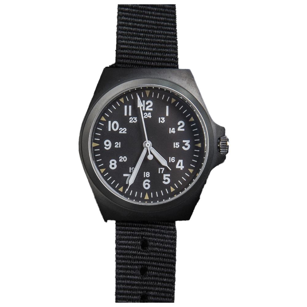 Mil-Tec Uhr US-Style S Steel IP schwarz