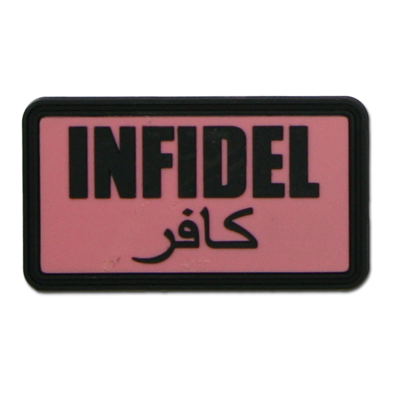 3D-Patch Infidel pink-black