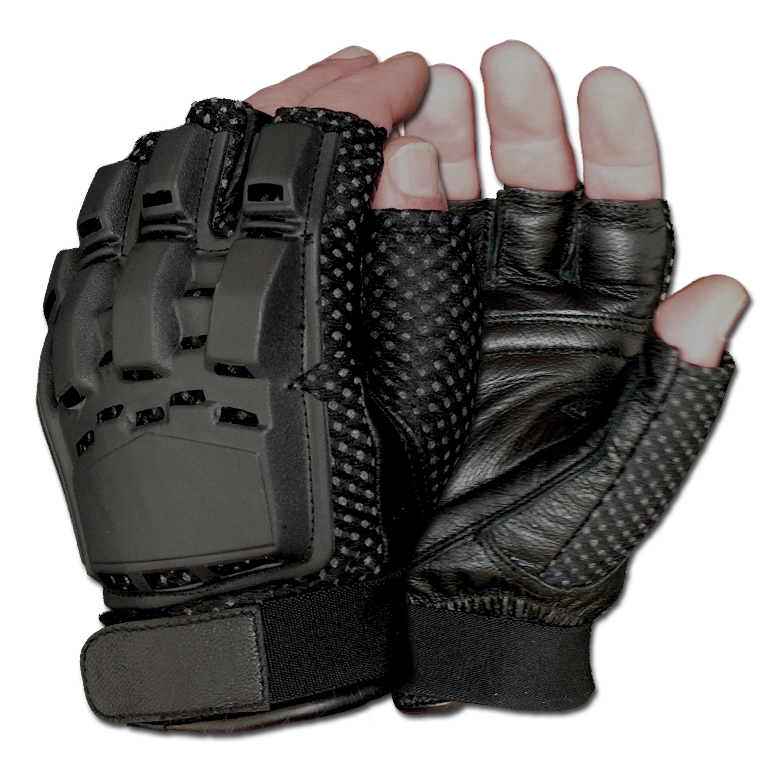 Gotcha-Paintball Handschuhe Halffinger schwarz