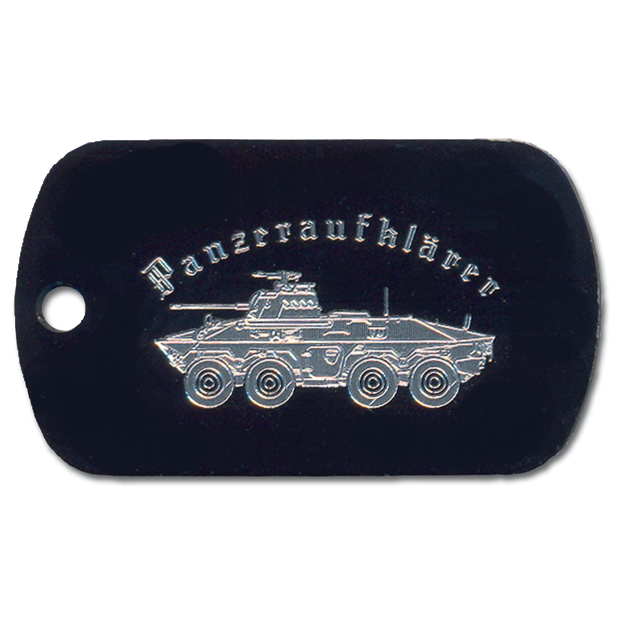 Erkennungsmarke mit Gravur Panzeraufklärer
