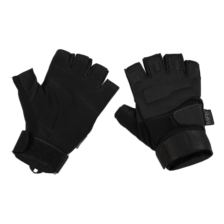 MFH Handschuh Halbfinger Protect schwarz
