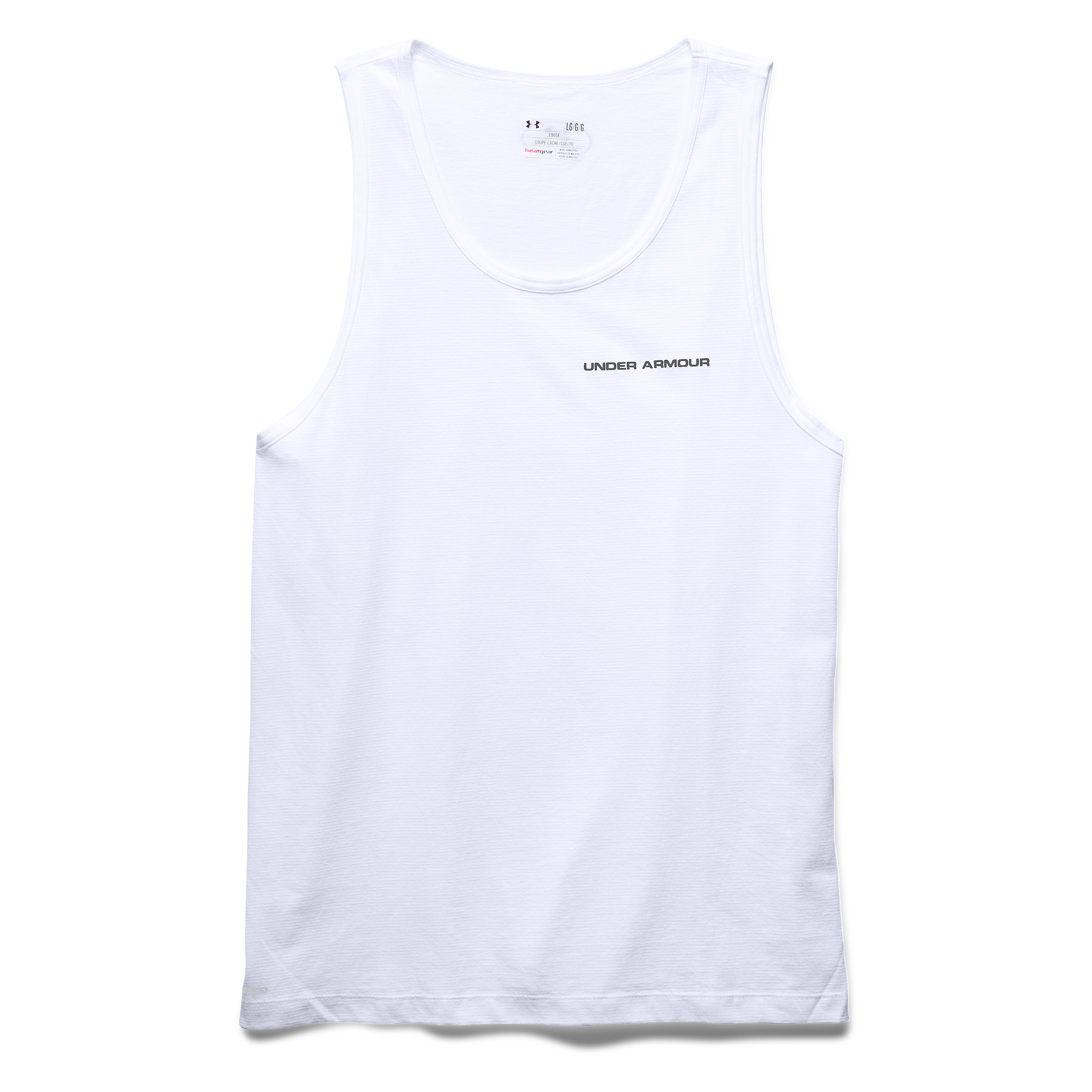Under Armour Tank-Top Charged Cotton weiss-grau