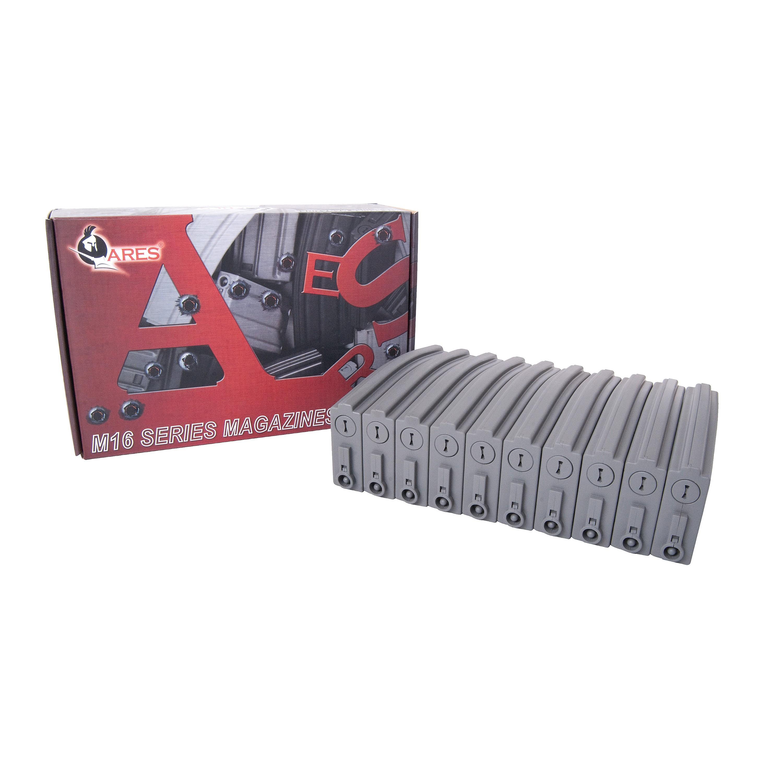 Airsoft Magazine Ares Low Cap f. M16 10er Pack