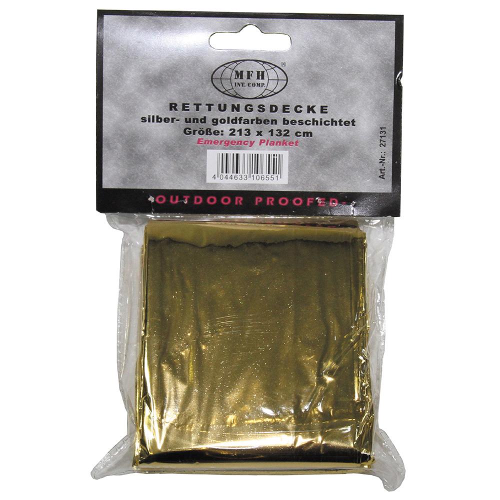MFH Rettungsdecke silber gold