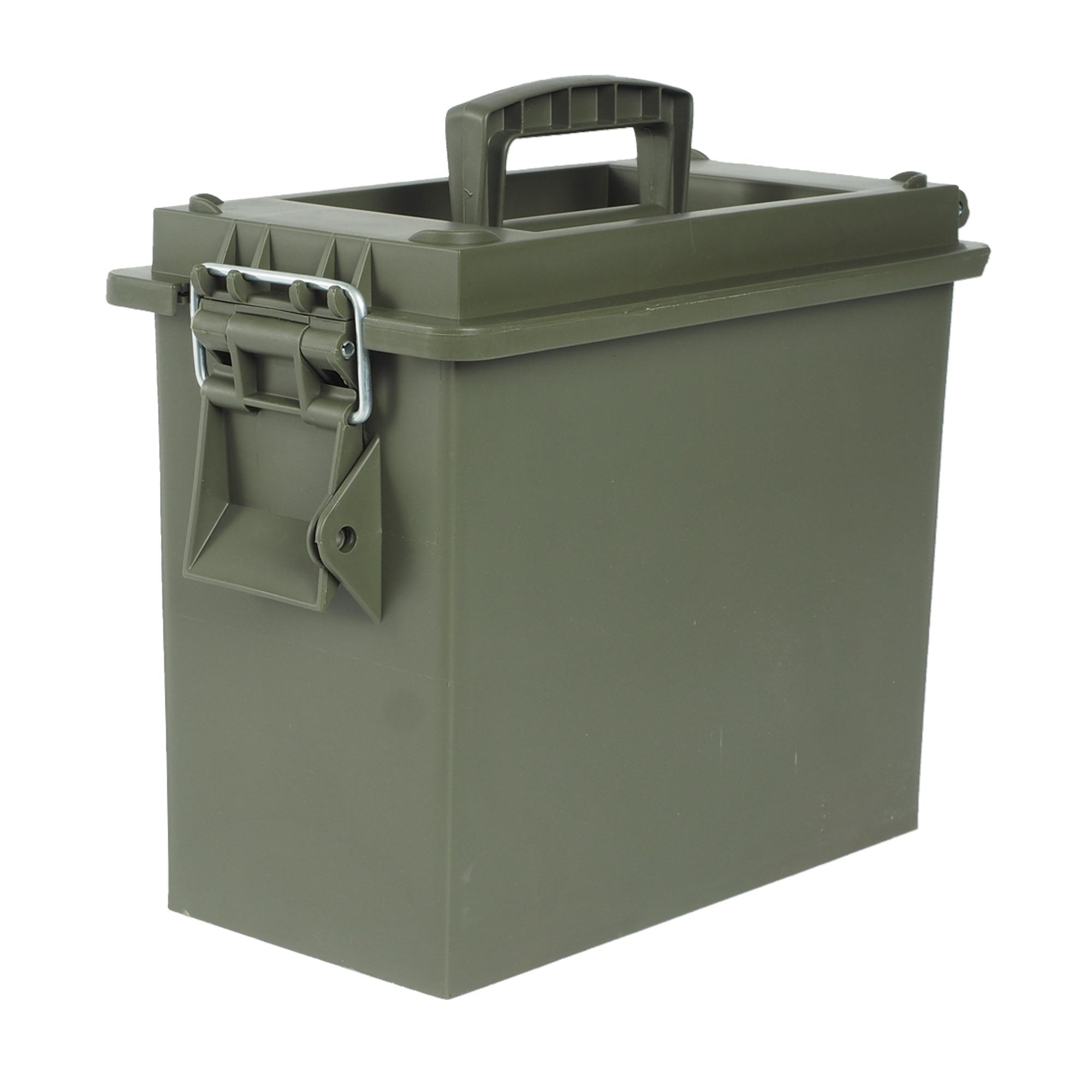 US Ammo Box KST. Cal. 50 mm mit Einsatz oliv