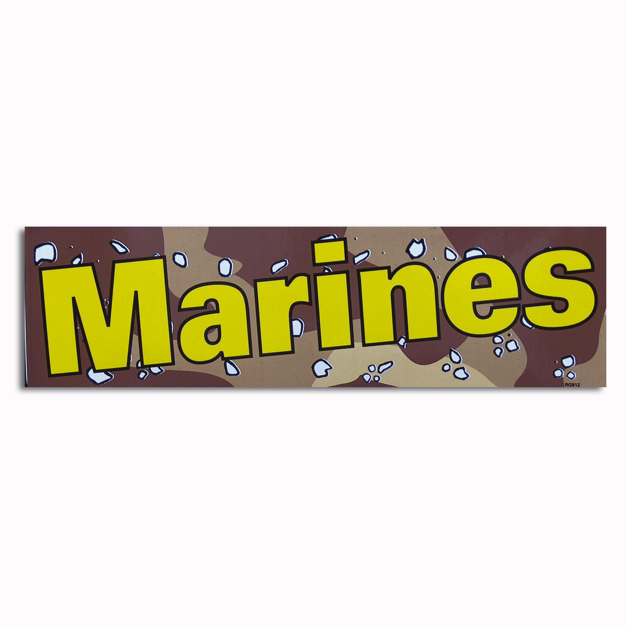 Bumper Sticker Marines desert