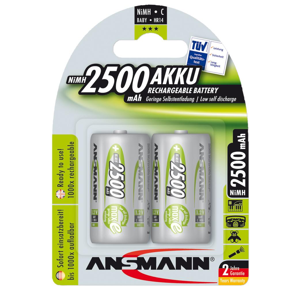 Akku Ansmann NiMH Baby C Green-Line 2er-Pack