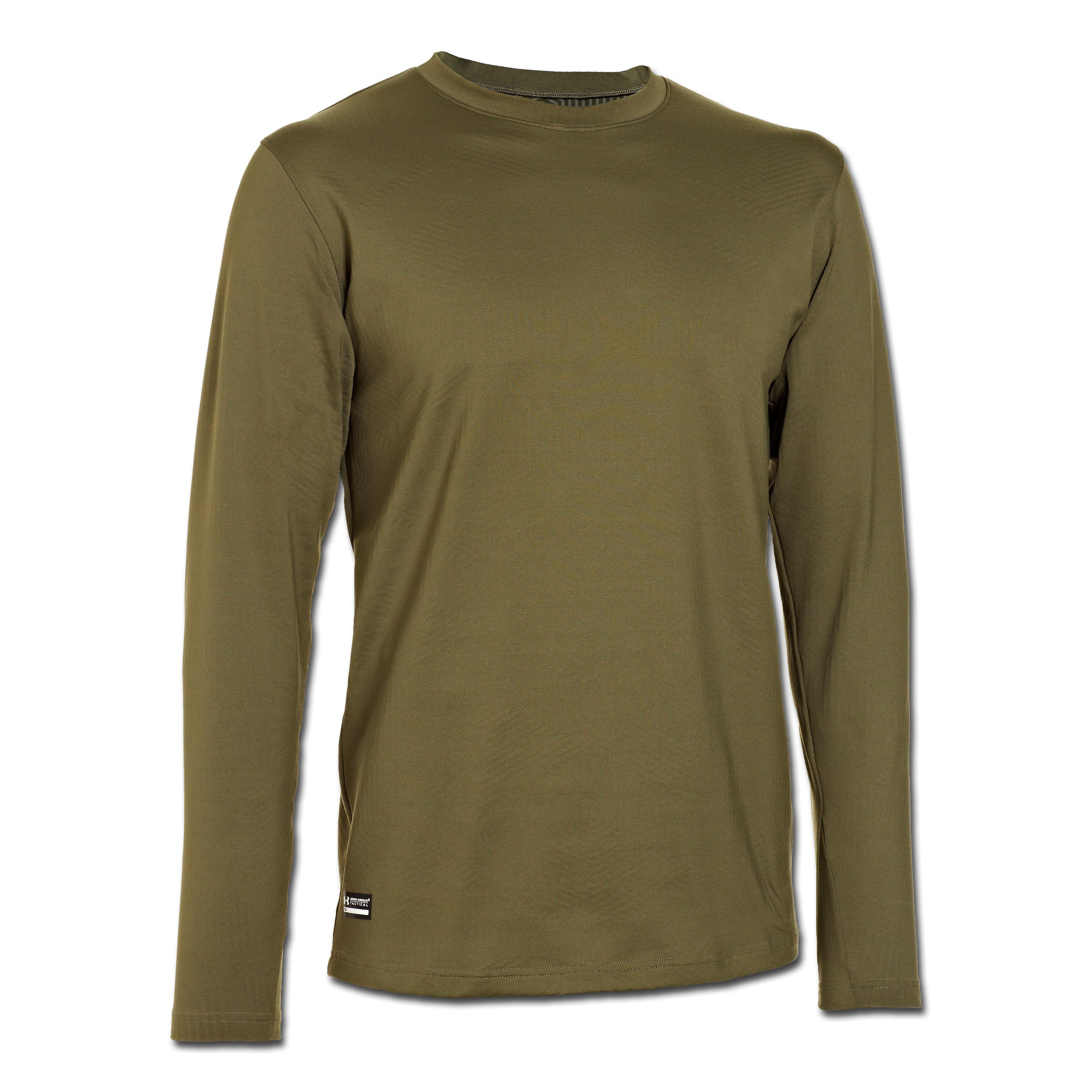 Under Armour ColdGear Tactical Crew Fitted oliv