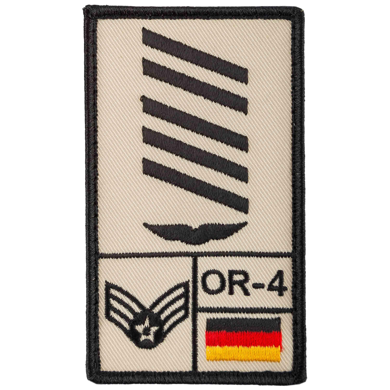 Café Viereck Rank Patch Oberstabsgefreiter Luftwaffe sand