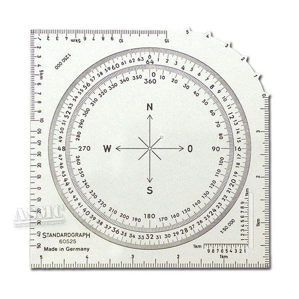 Karten-Winkelmesser