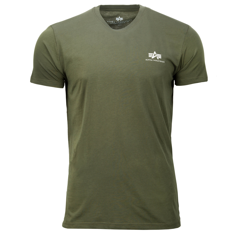Alpha Industries T-Shirt Basic Small Logo dark olive