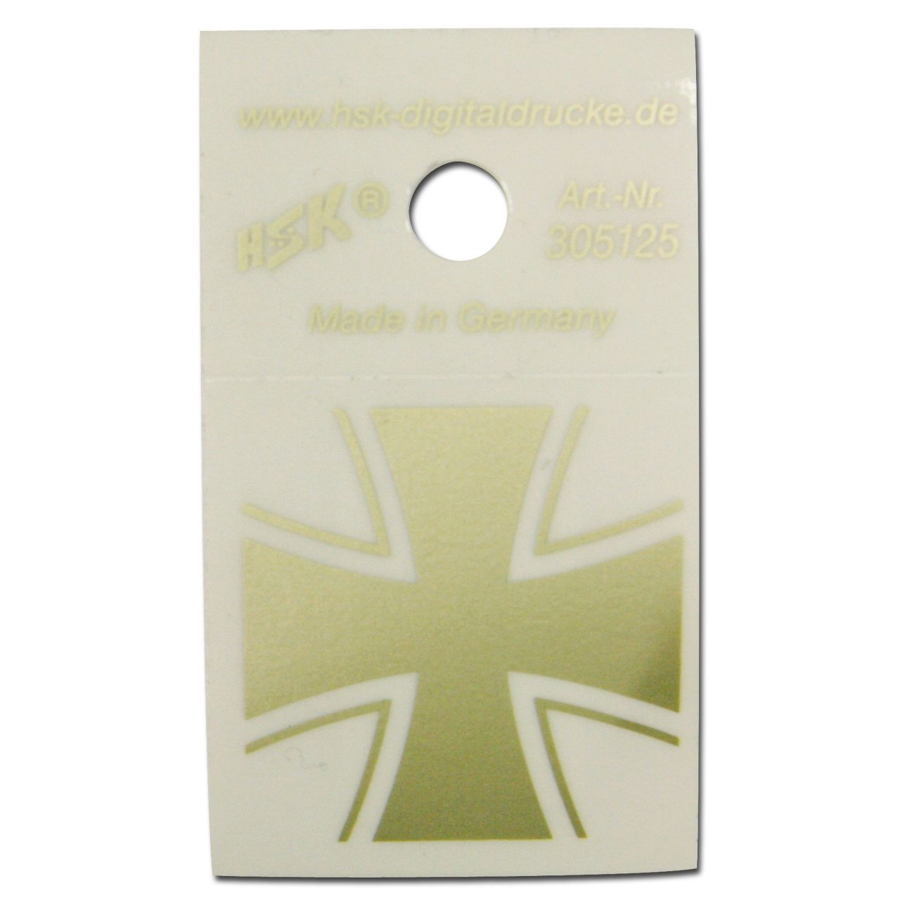 Aufkleber Eisernes Kreuz Gold