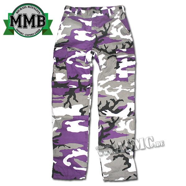 Feldhose BDU Style MMB lila-camo