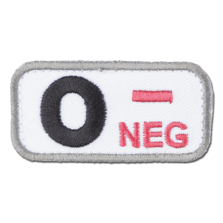 MilSpecMonkey Patch Blutgruppe O Neg medical