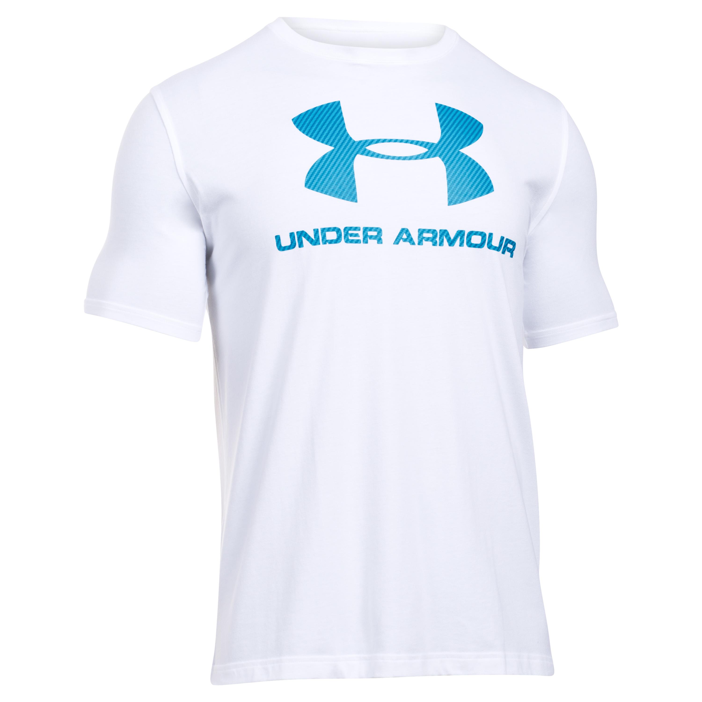 Under Armour T-Shirt Sportstyle Logo weiß-blau