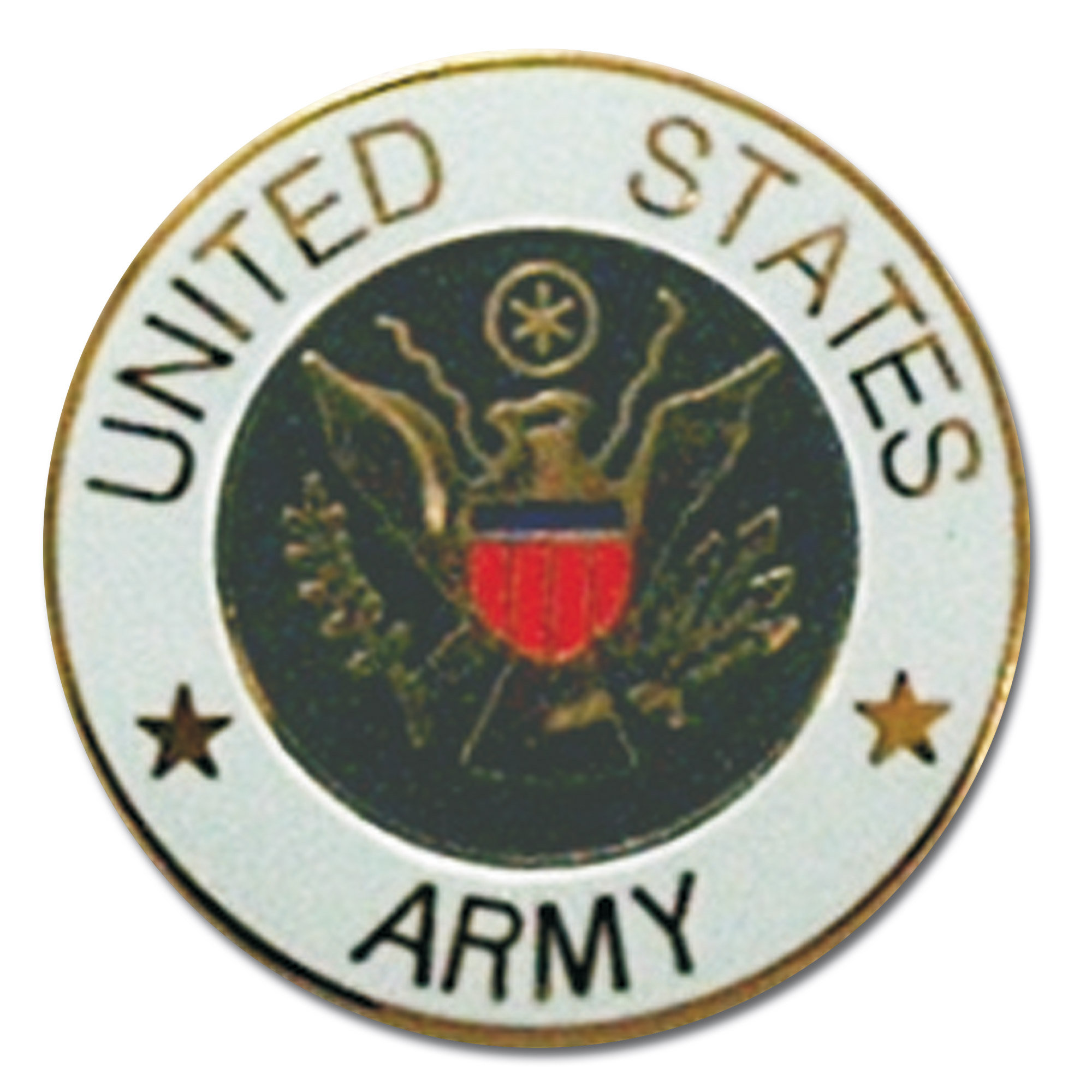 Pin Mini US Army rund