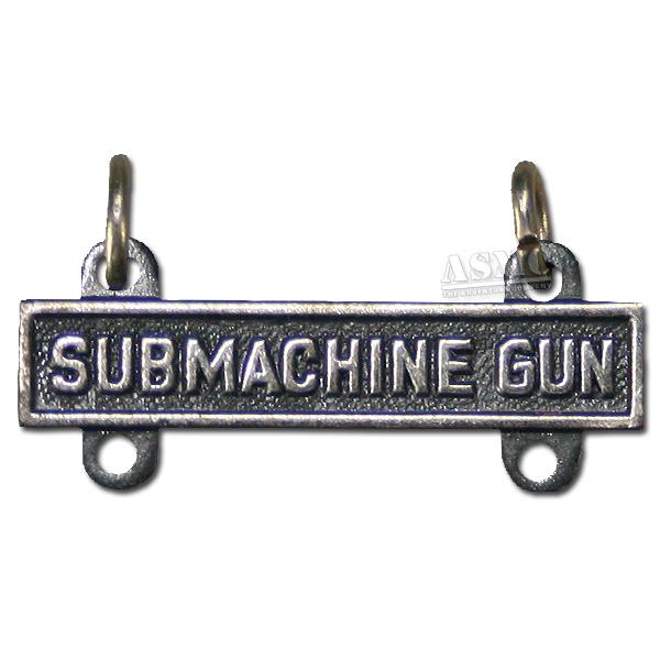 Abzeichen US Qual. Bar Submachine Gun