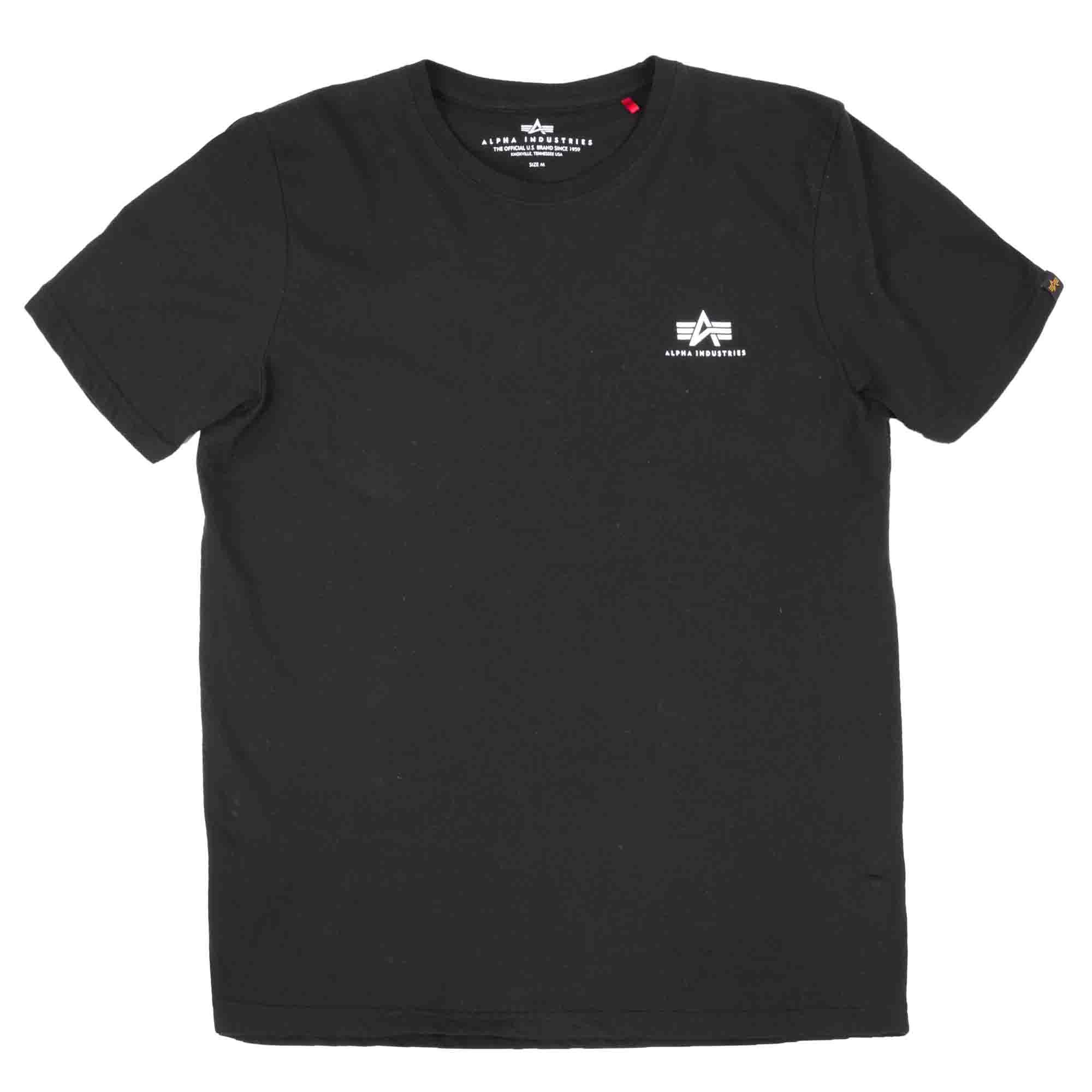 Alpha Industries T-Shirt Basic Small Logo schwarz