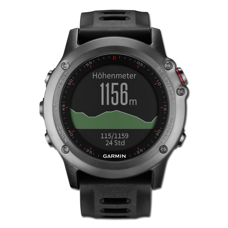 Garmin Fenix 3 Outdoor GPS-Uhr grau