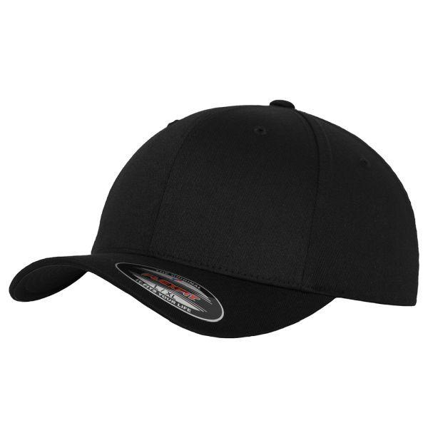 Flexfit Cap Wooly Combed schwarz
