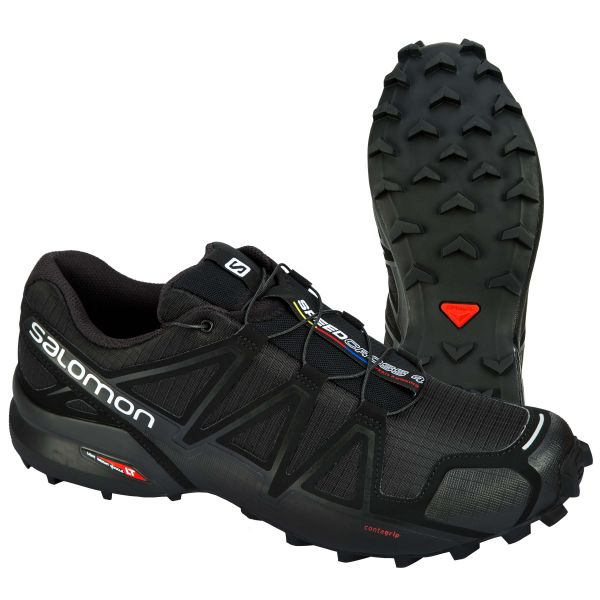 Salomon Schuhe Speedcross 4 schwarz metallic
