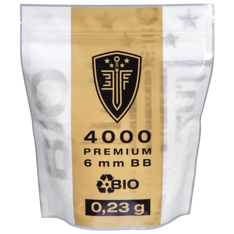 Elite Force Premium Bio BBs 0.23 g 4000 Stk. Zipper-Bag weiß