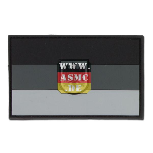3D-Patch Deutschland mit Wappen subbed grau