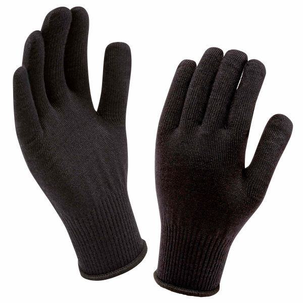 Sealskinz Handschuhe Solo Merino Liner schwarz