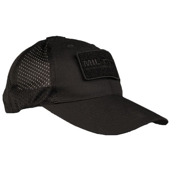 Baseball Cap mit Netzeinsatz schwarz
