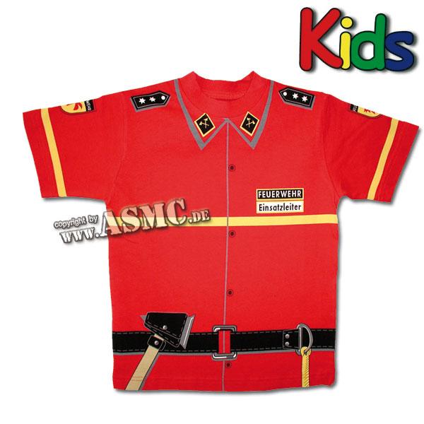 Kinder T-Shirt Feuerwehr rot