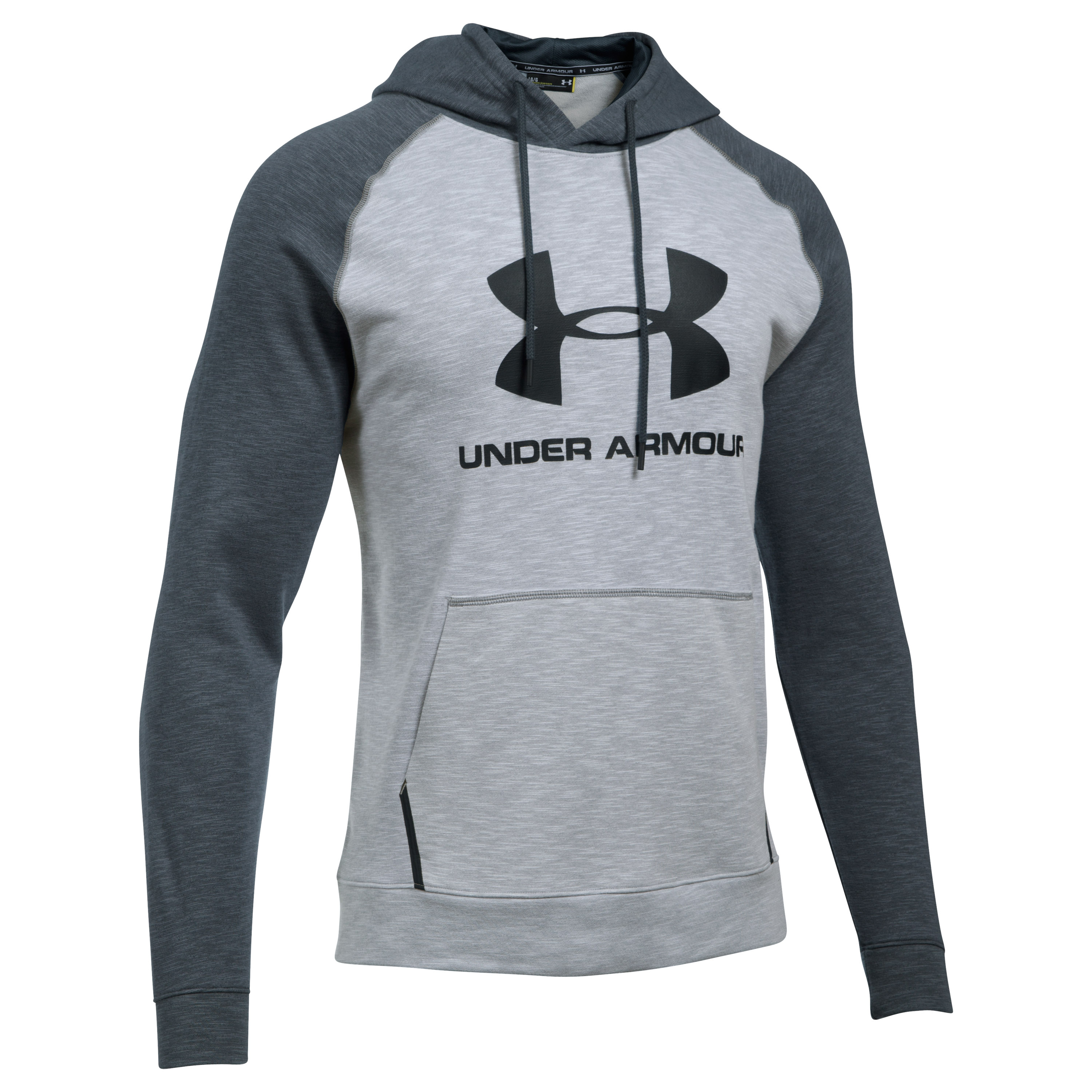 Under Armour Fitness Pullover Hoody Sportstyle Triblend hellgrau