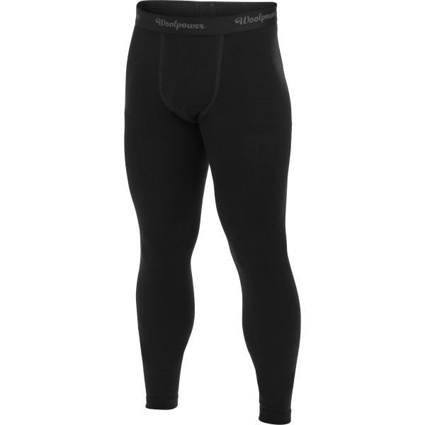 Woolpower Lite Unterhose Long Johns schwarz