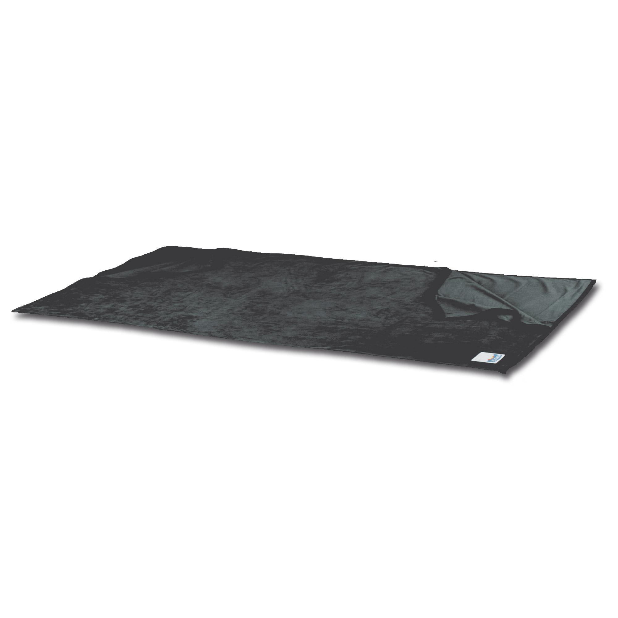 Schlafsack Inlett Fleece Deckenform anthrazit