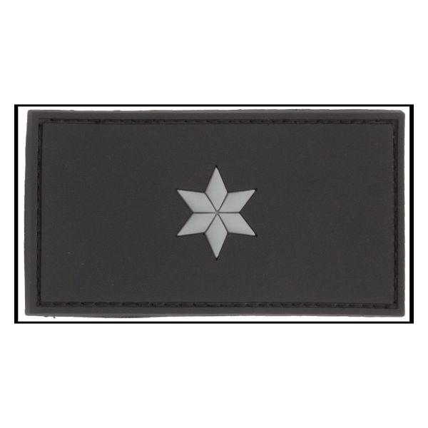 3D-Patch Dienstgradabzeichen Polizeikommissar schwarz