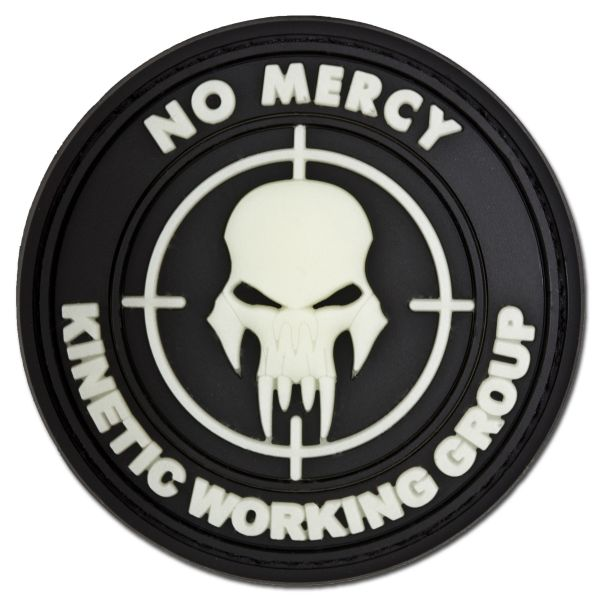 3D-Patch NO MERCY - KINETIC WORKING GROUP nachleuchtend