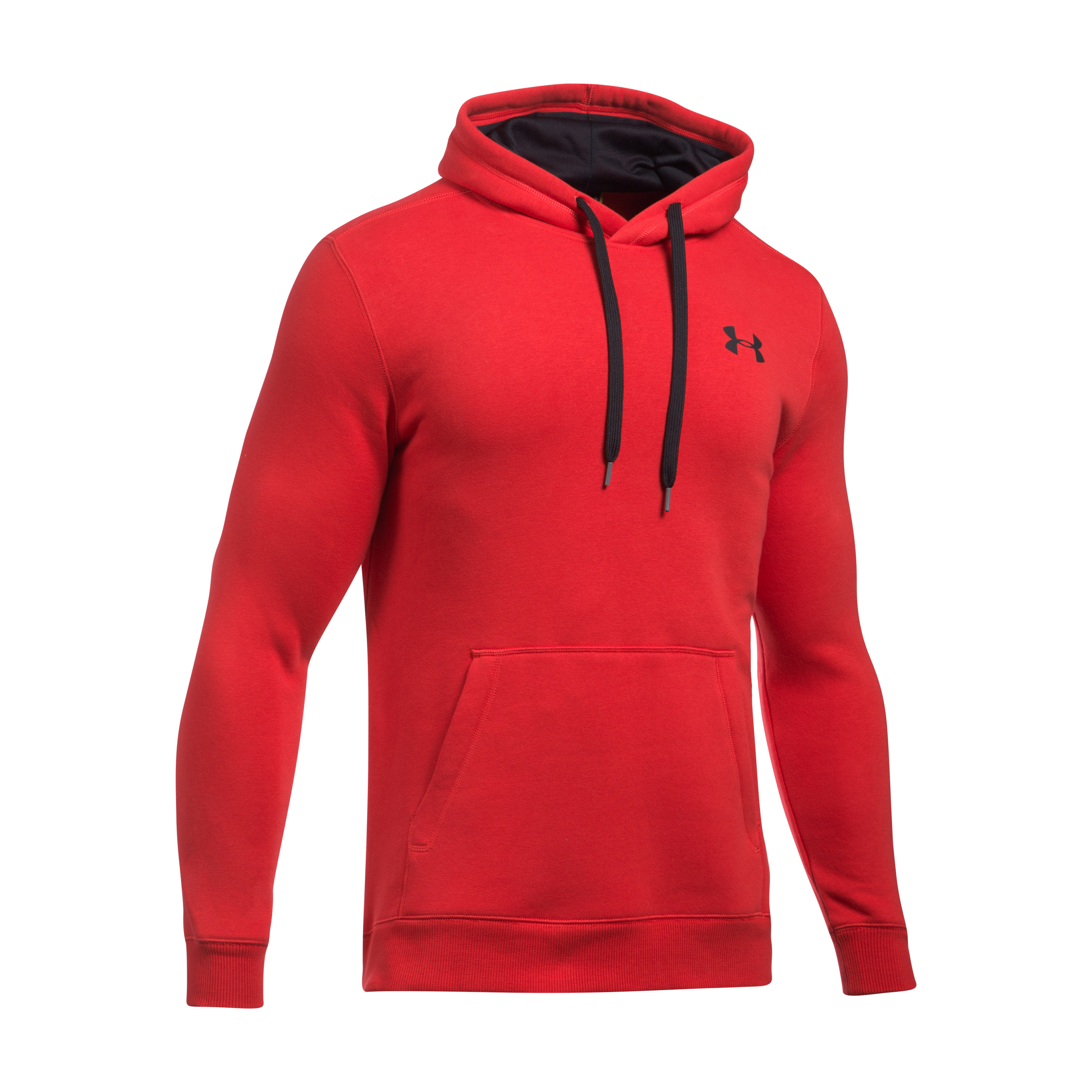Under Armour Hoodie Rival Fitted rot-schwarz