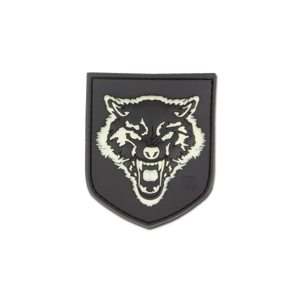 3D-Patch Wolf small nachleuchtend