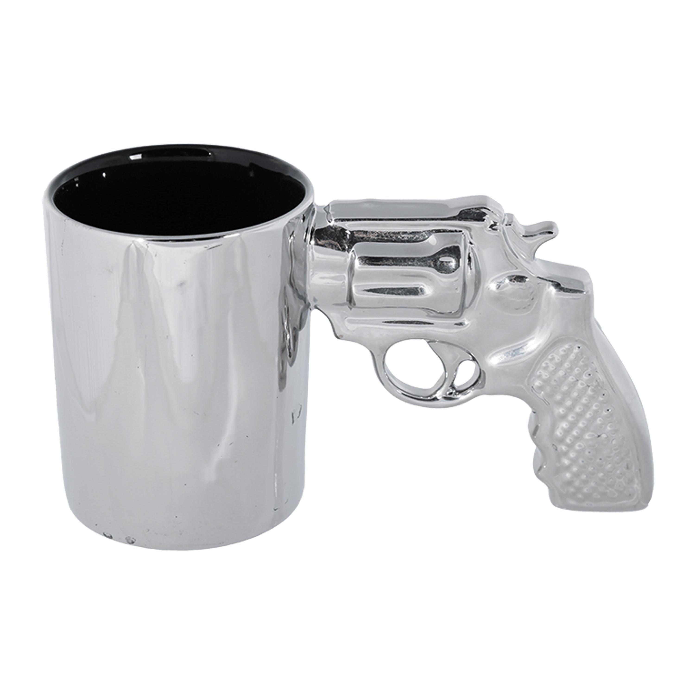 Becher mit Revolvergriff silber