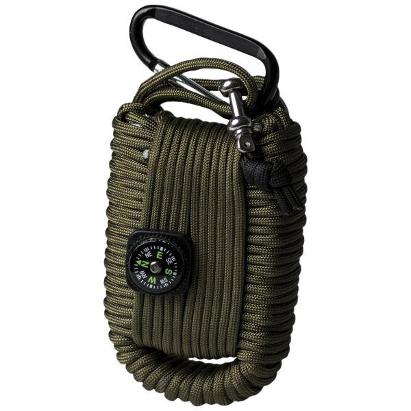 Paracord Survival Kit groß oliv