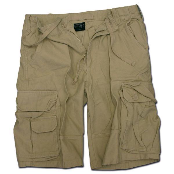 Aviator Shorts Mil-Tec Satin washed khaki