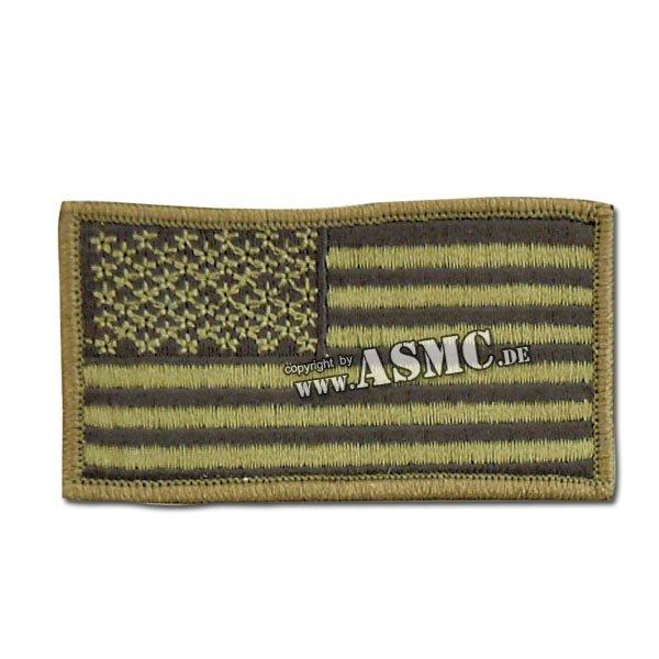 Abzeichen US Flagge oliv
