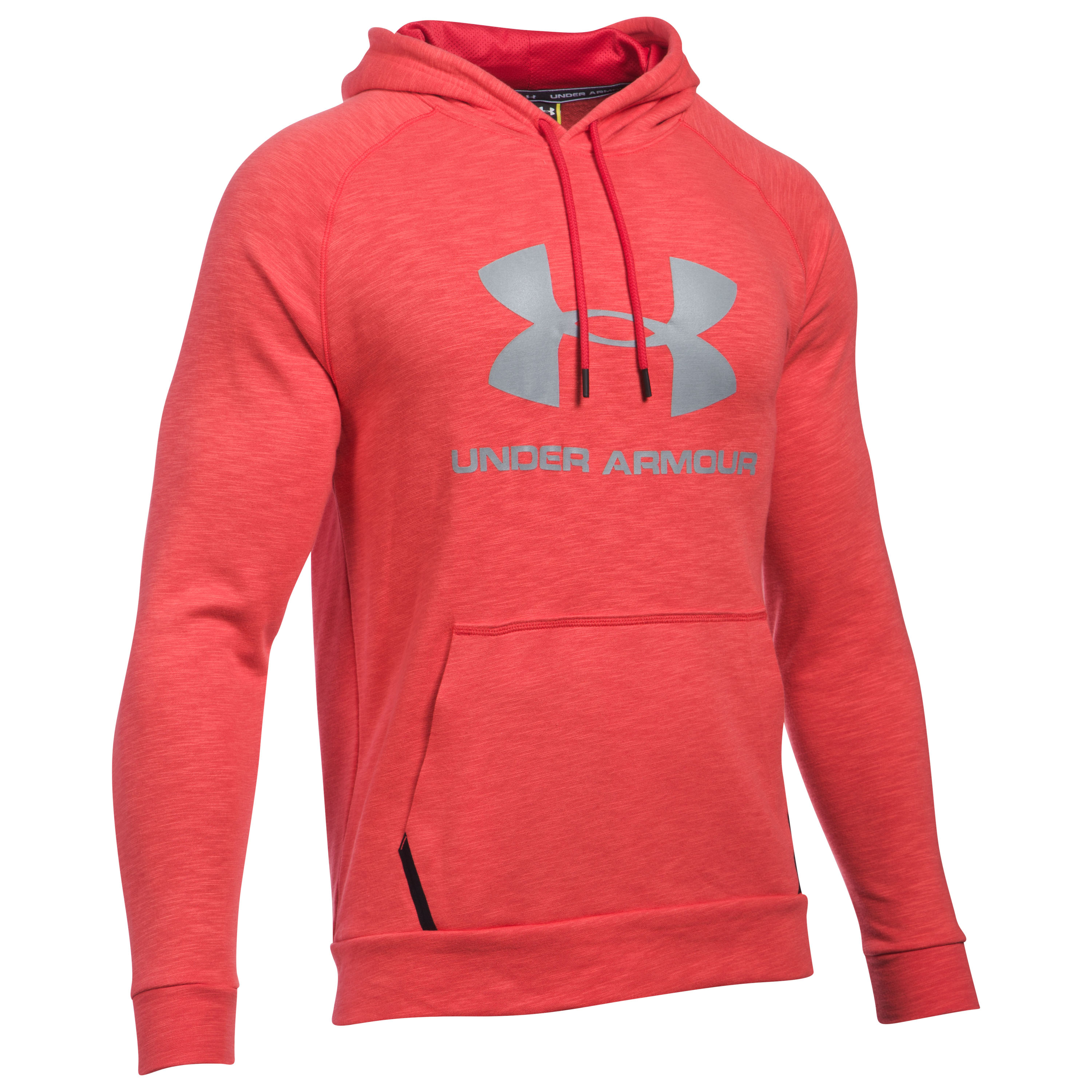 Under Armour Fitness Pullover Hoody Sportstyle Triblend rot