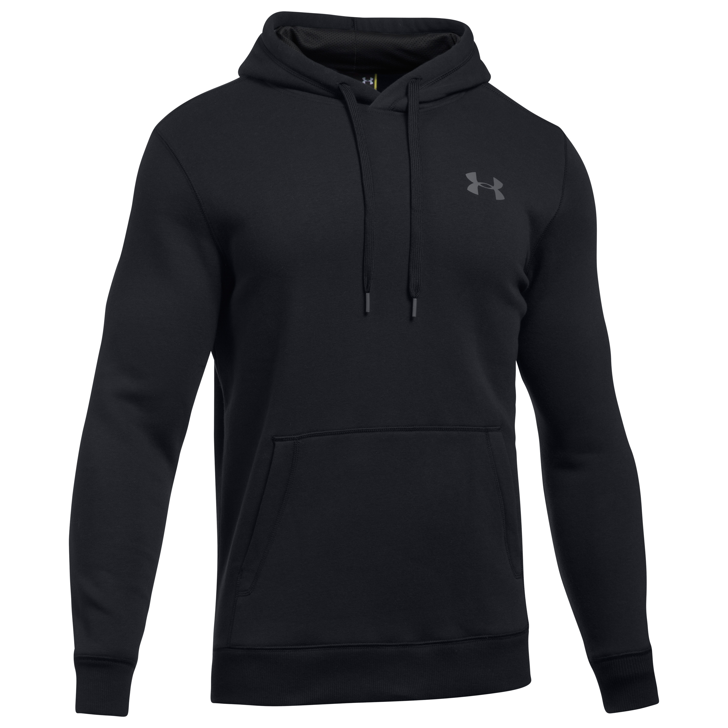 Under Armour Hoodie Rival Fitted schwarz