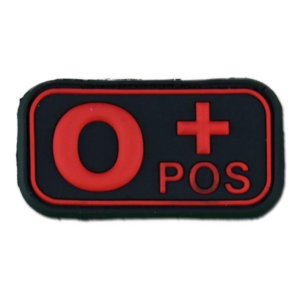 3D Blutgruppenpatch 0 Pos blackmedic