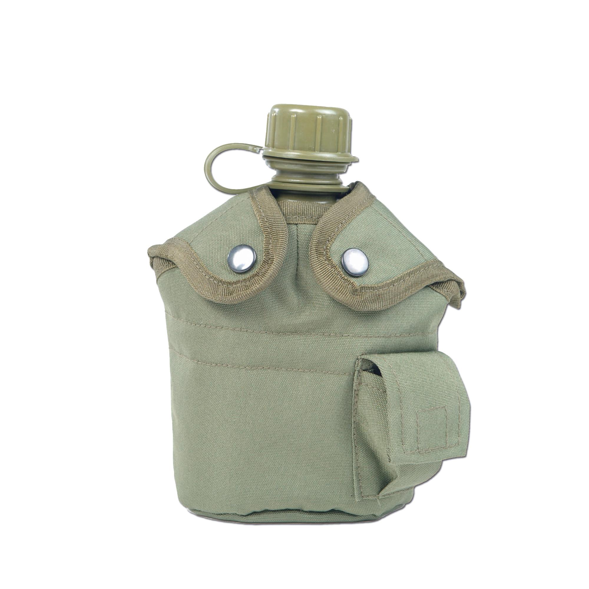 Feldflasche 1 qt. mit Becher und Hülle oliv