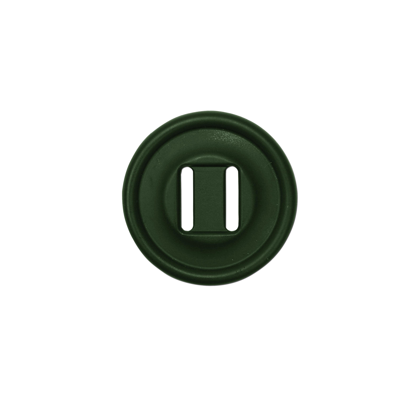 Slotted Button groß 10-er Pack oliv