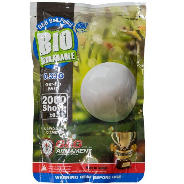 G&G Bio Airsoft BBs 6 mm 0.33 g 2000 Stück grau