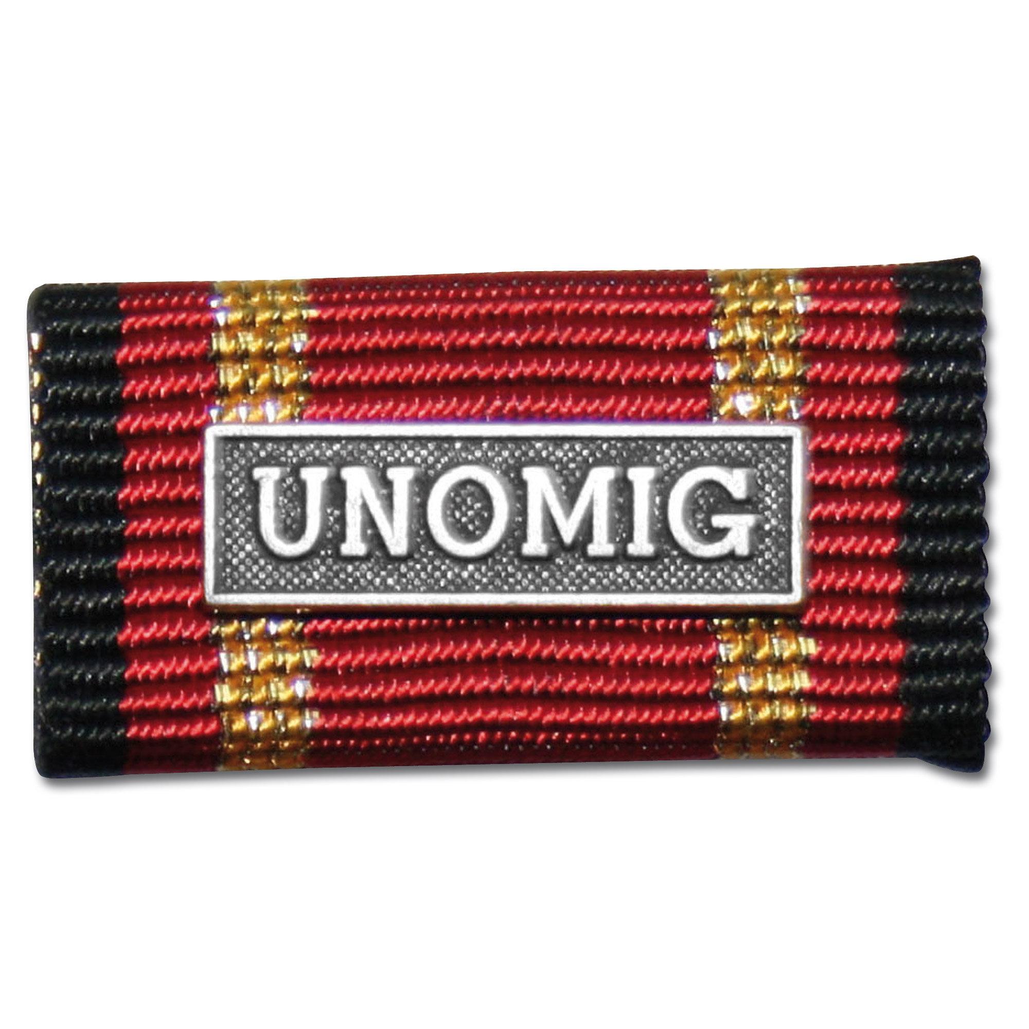 Ordensspange Auslandseinsatz UNOMIG silber