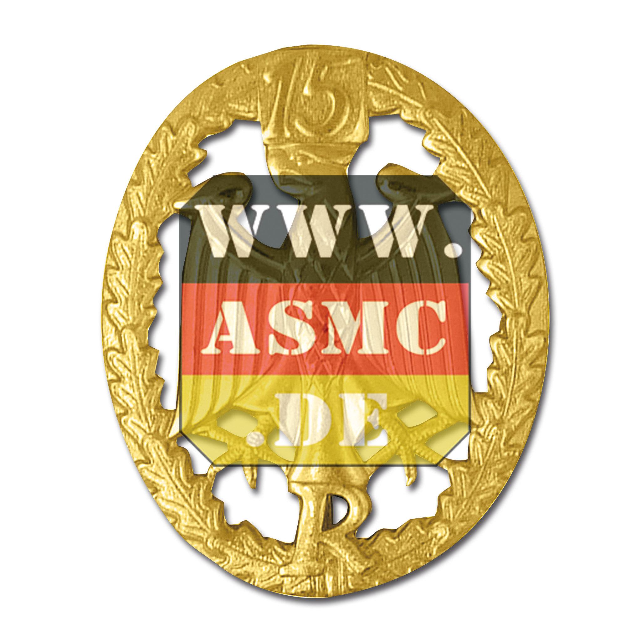 Leistungsabzeichen Reservisten Metall gold Zahl 15