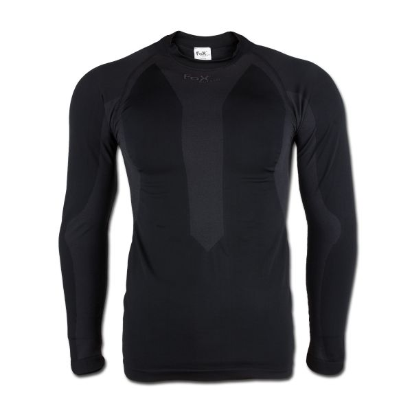 Sportfunktionsunterhemd Langarm schwarz